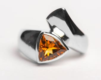 Citrine Ring Silver