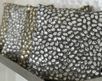 Decorative Jeweled Accent Pillows
