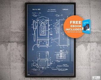 Telephone blueprint etsy old phone patent vintage telephone phone blueprint blueprint art retro phone wall art radio patent radio construction phonebooth art malvernweather Gallery