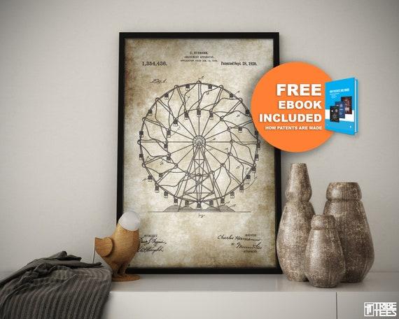 ferris wheel ferris wheel art ferris wheel print ferris   Etsy