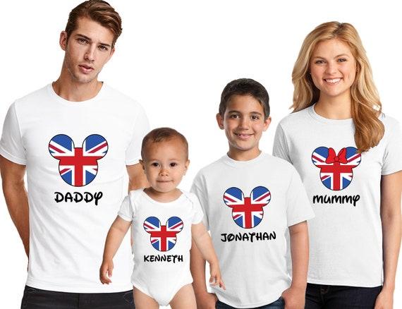 aa6bcc99c Disney UK Flag Family T-Shirts Matching family tshirt | Etsy