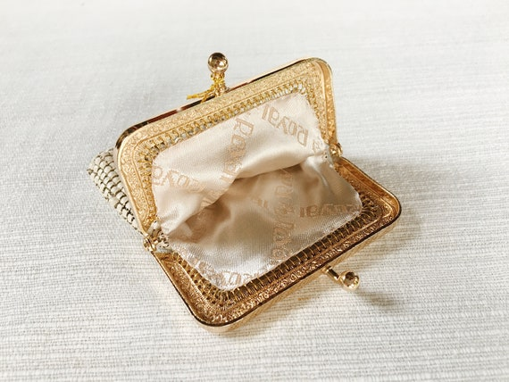 Vintage Coin Pouch Vintage Bag Vintage Silver Tone Metal Mesh Small Coin Purse Mesh Pouch Wallet Pocket Coin
