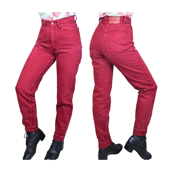 """Red Levis 512 Jeans 