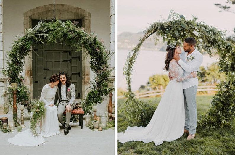 Wedding Arch Wedding Dcor Metal Circle Wedding Arch Outdoor Etsy