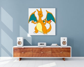 Canvas print of the Pokemon Charizard