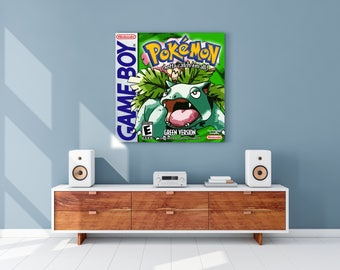 Pokemon Green Gameboy Cover Canvas Print
