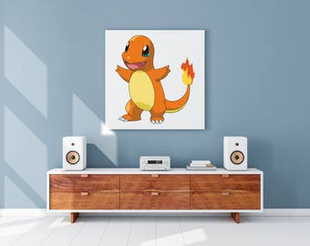 Canvas print of the Pokemon Charmander