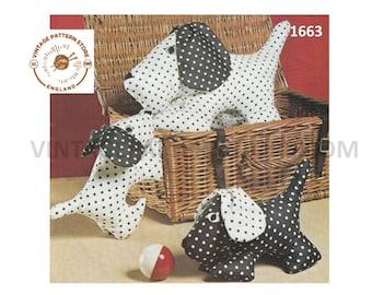 1980s toy dog sewing pattern - Vintage PDF Sewing Pattern 1663