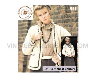 20018ad55 Knitting pattern Ladies 80s cardigan