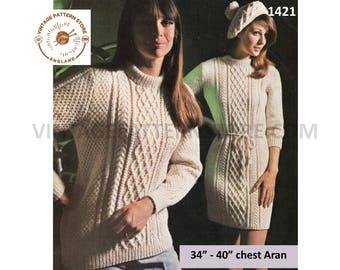 a9dc62453c2 Ladies sweater dress knitting pattern