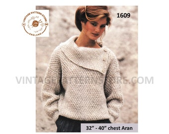 Ladies aran sweater knitting pattern b7628fecc