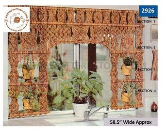 70s Macrame pattern, Macrame net curtain pattern, Macrame plant hanger pattern, Macrame pot hanger pattern - PDF Download 2926