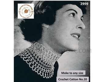 Ladies Womens 30s vintage tatted lace choker dress collar pdf tatting pattern Instant PDF Download 2999