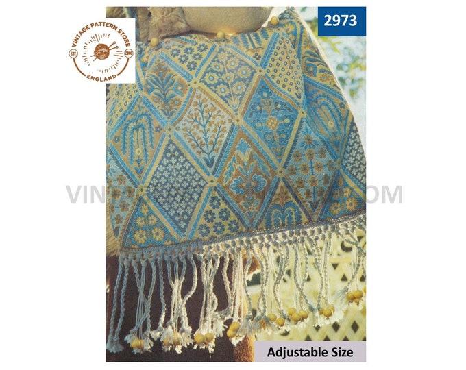 80s vintage beginners easy to follow make macrame bag purse fringe tassels pdf macrame pattern instant PDF download 2973