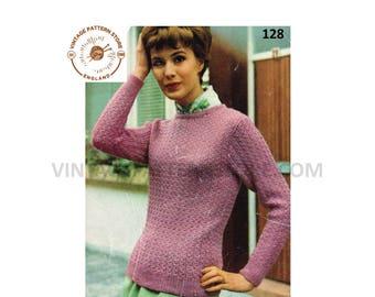 2876720dd Ladies sweater knitting pattern