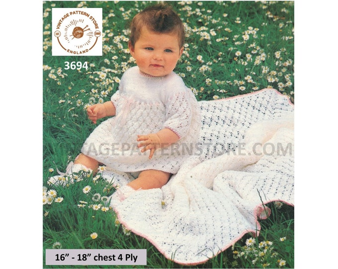 "Baby sweater//skirt//cardigan//trousers//bonnet knitting pattern 4 ply 16/""-22/"" 137"