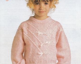 0a94f35867306 Girls DK sweater knitting pattern