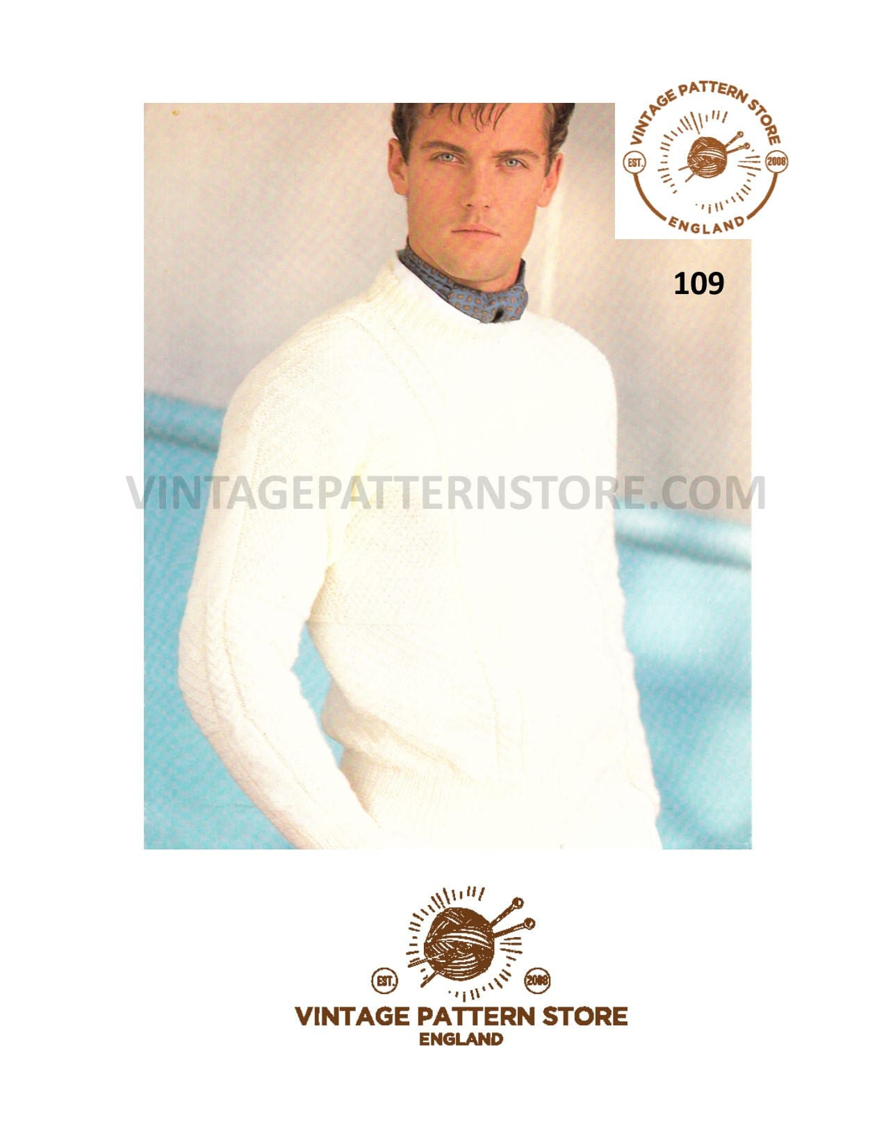 2aedeca949fe Mens crew neck sweater knitting pattern