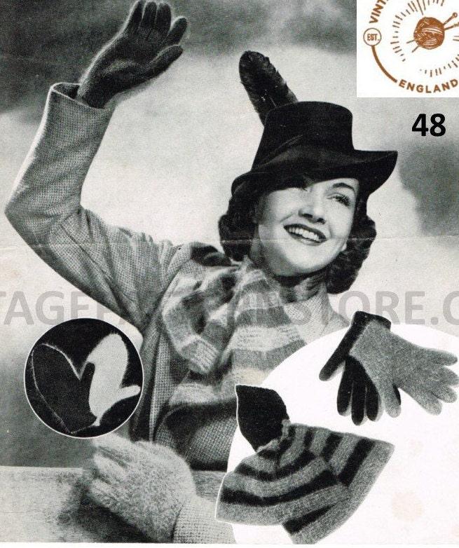 Ladies 1940s Knitting Patterns Ladies 40s Cravat Scarf Ladies