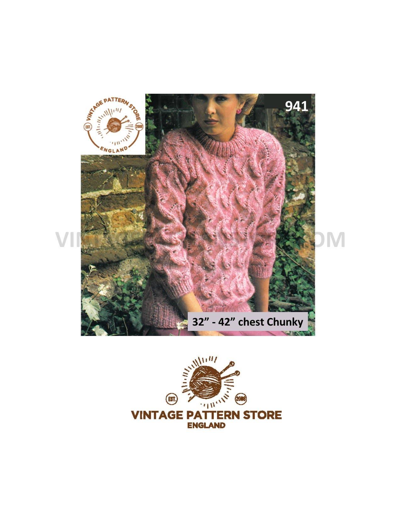 b3c1d7f7235e00 Ladies 80s sweater knitting pattern