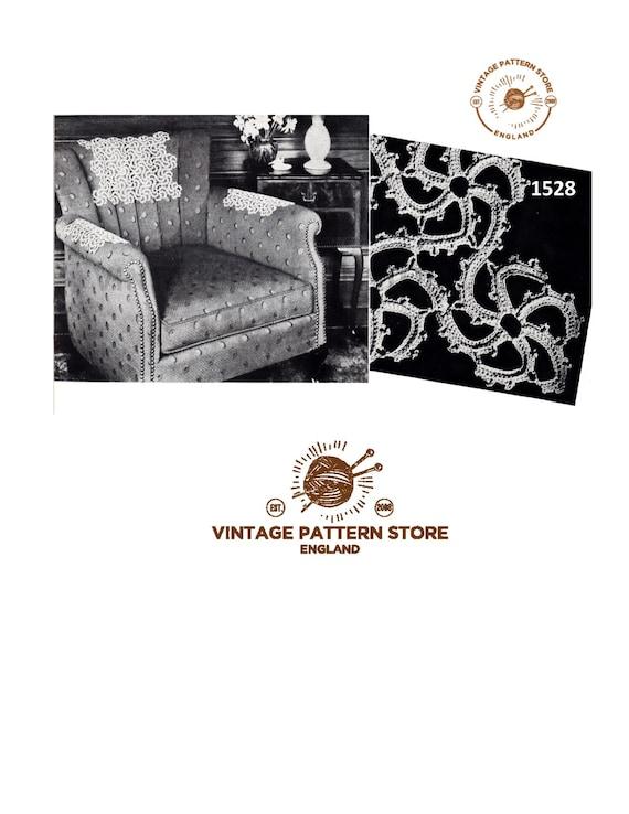 Amazing Chair Back Covers Crochet Patterns 40S Chair Back Covers Arm Chair Covers Settee Back Covers Chair Protectors Instant Pdf Download 1528 Machost Co Dining Chair Design Ideas Machostcouk