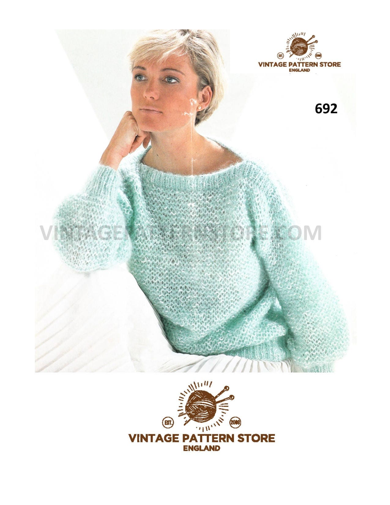 Easy style Ladies Aran Jacket knitting pattern Also as a PDF. Cardigan