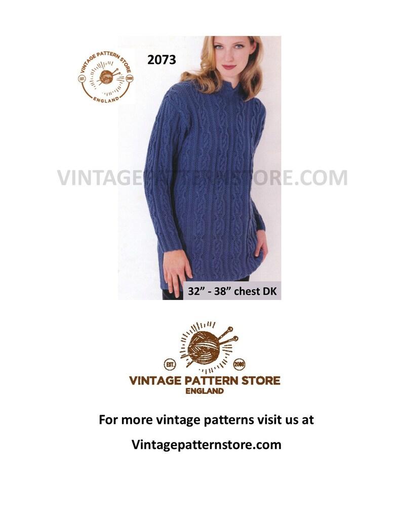 d70b8d44b2d3fb Split neck sweater knitting pattern Ladies 90s slouchy
