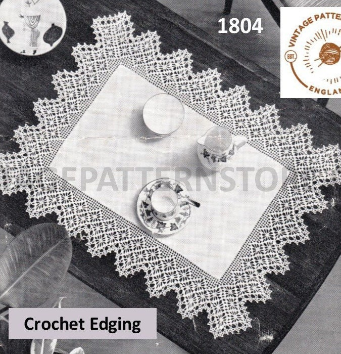 Astounding 50S Vintage Lace Edging For Linen Table Cloth Pdf Crochet Download Free Architecture Designs Scobabritishbridgeorg