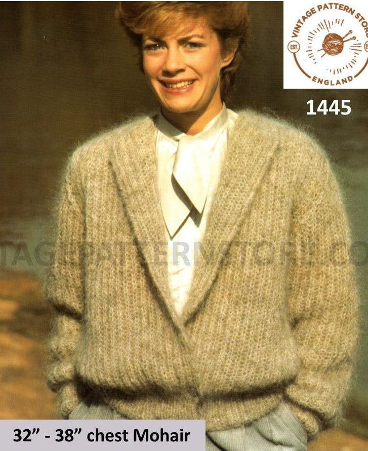 Ladies Cardigan Knitting Patterns Ladies Shawl Collar Cardigan