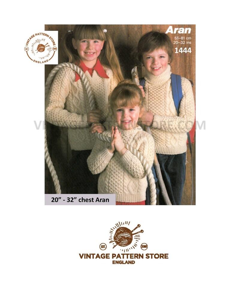 0af320be7b5 Boys girls aran sweater knitting pattern, Cable aran sweater patterns, Polo  neck aran sweater patterns - 20