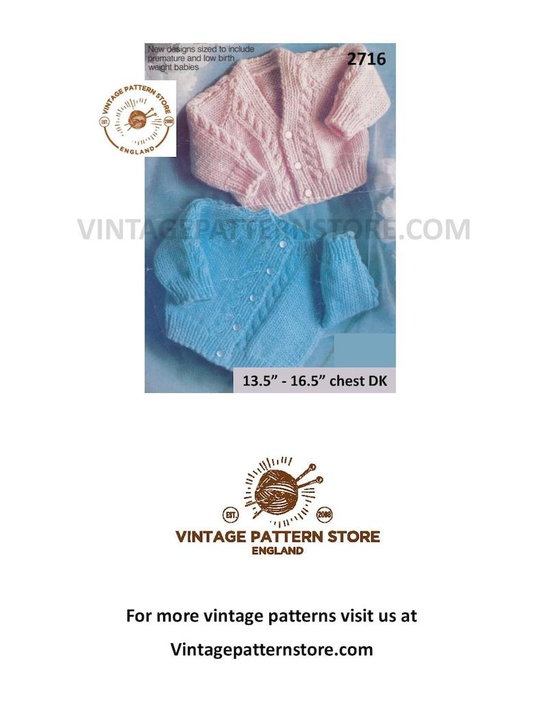 828525583 Premature babies knitting patterns, Premature baby patterns, DK baby  patterns, Babies cardigan - 13.5