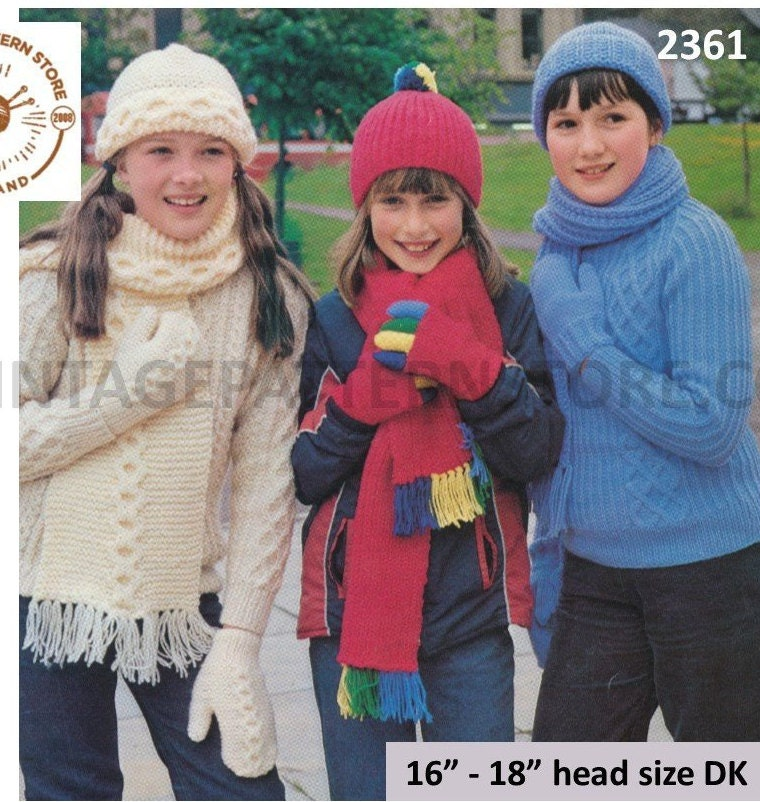 Childrens Hat And Scarf Knitting Patterns Childrens Mittens