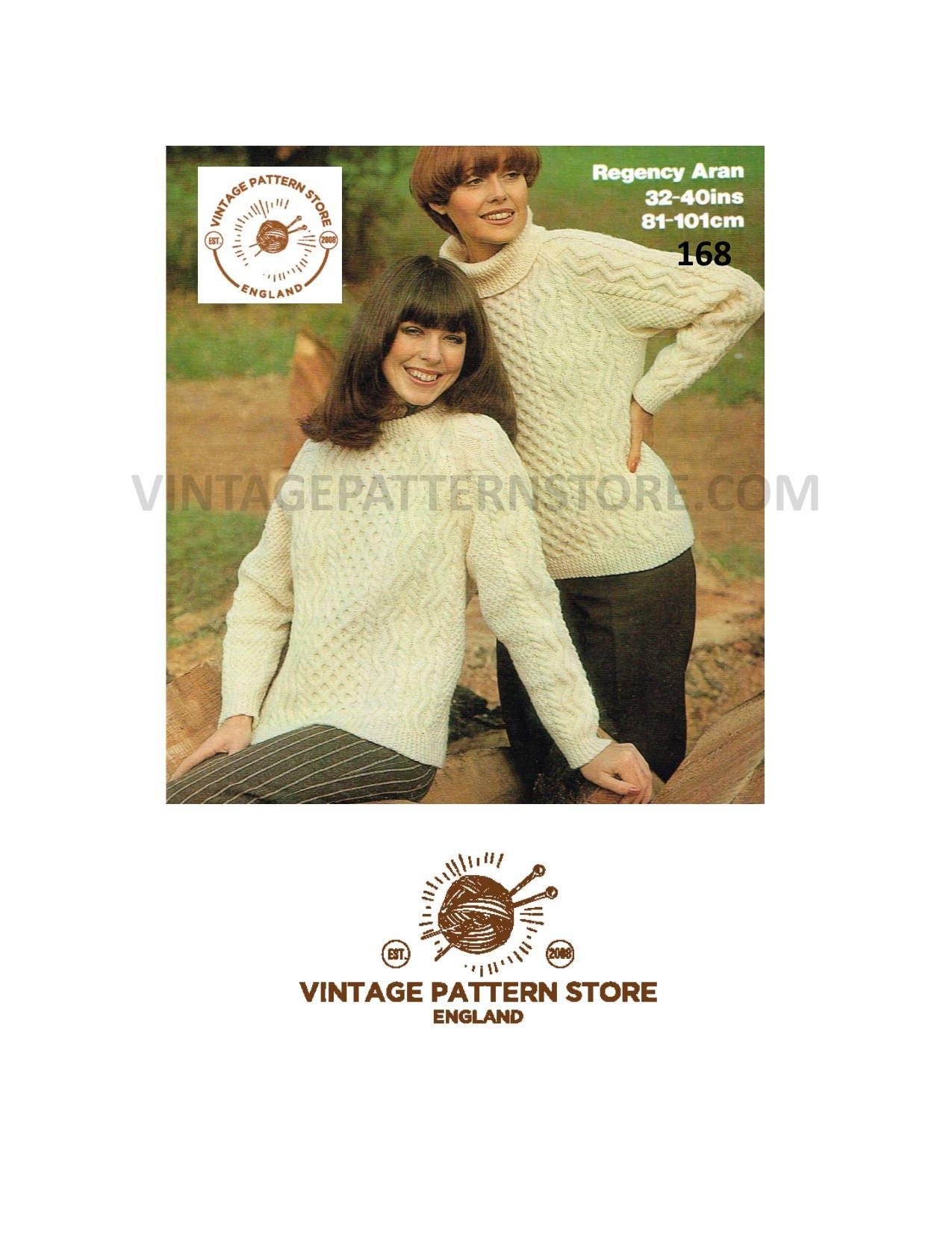 e2458f29b390 Ladies aran sweater knitting pattern