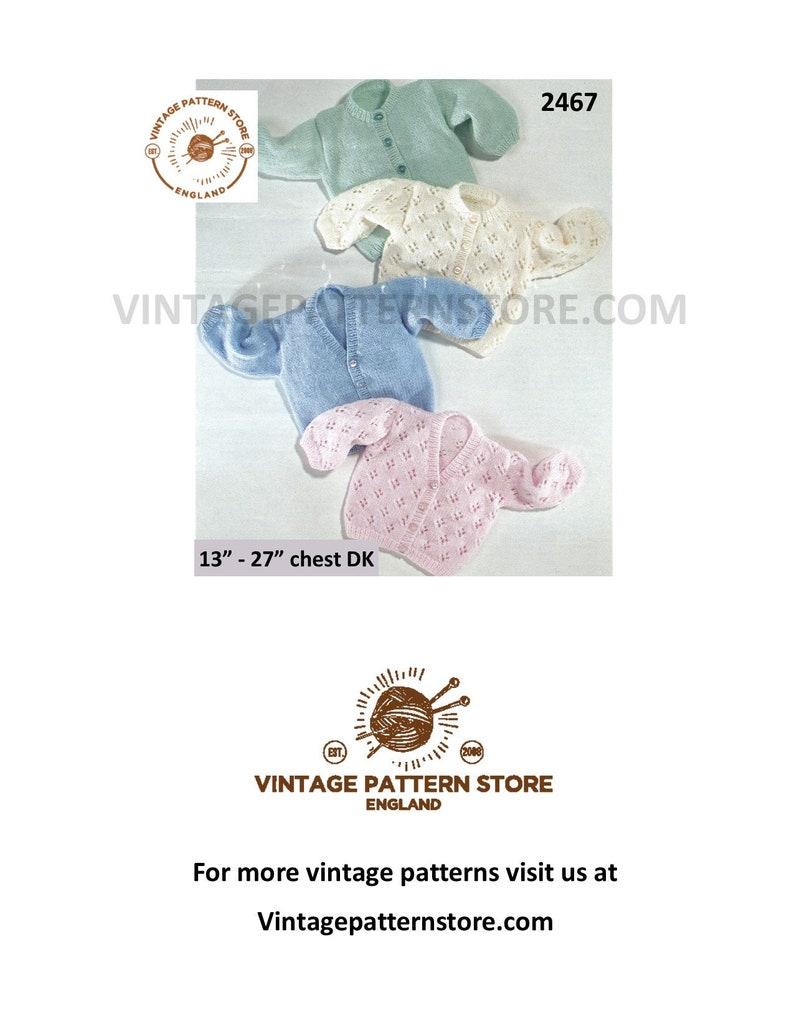 8f13982e4 Premature babies knitting pattern, Premature baby pattern, Babies lacy &  plain cardigan, DK baby patterns, 13