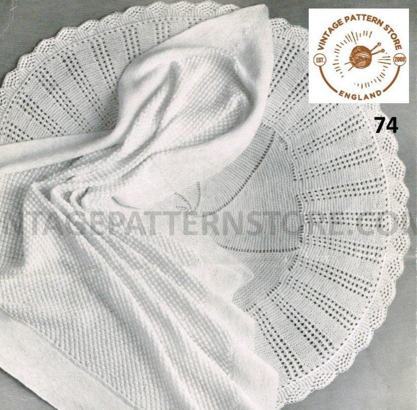 Baby Shawl Knitting Pattern Babies 80s Shawl Pattern 3 Ply 4 Ply