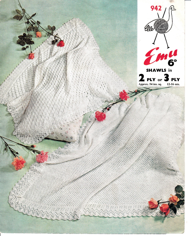 Baby Shawl Knitting Pattern Babies Square Lacy Shawl Pattern 2 Ply