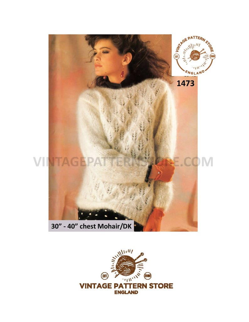 90a4a8172 Ladies mohair sweater knitting pattern Ladies drop shoulder