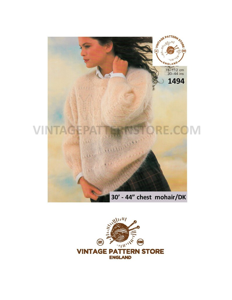 e6acabd2fa5c89 Ladies 90s Sweater knitting patterns Ladies mohair sweater