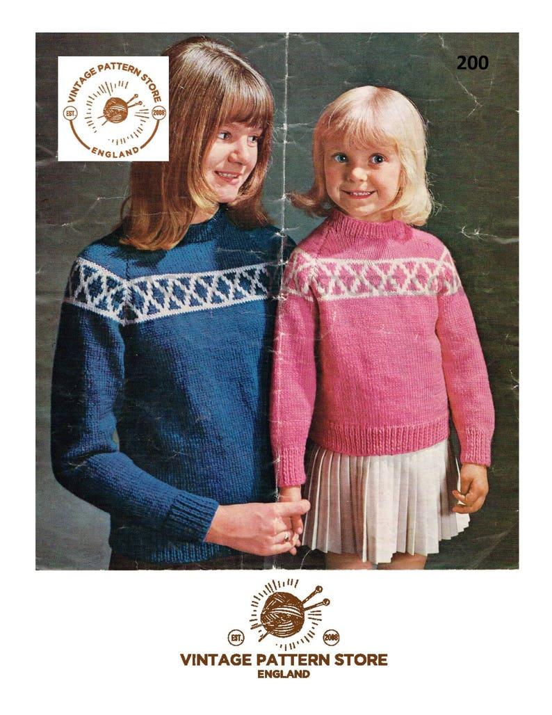 04439fac90aa Easy fair isle knitting pattern Girls fair isle banded