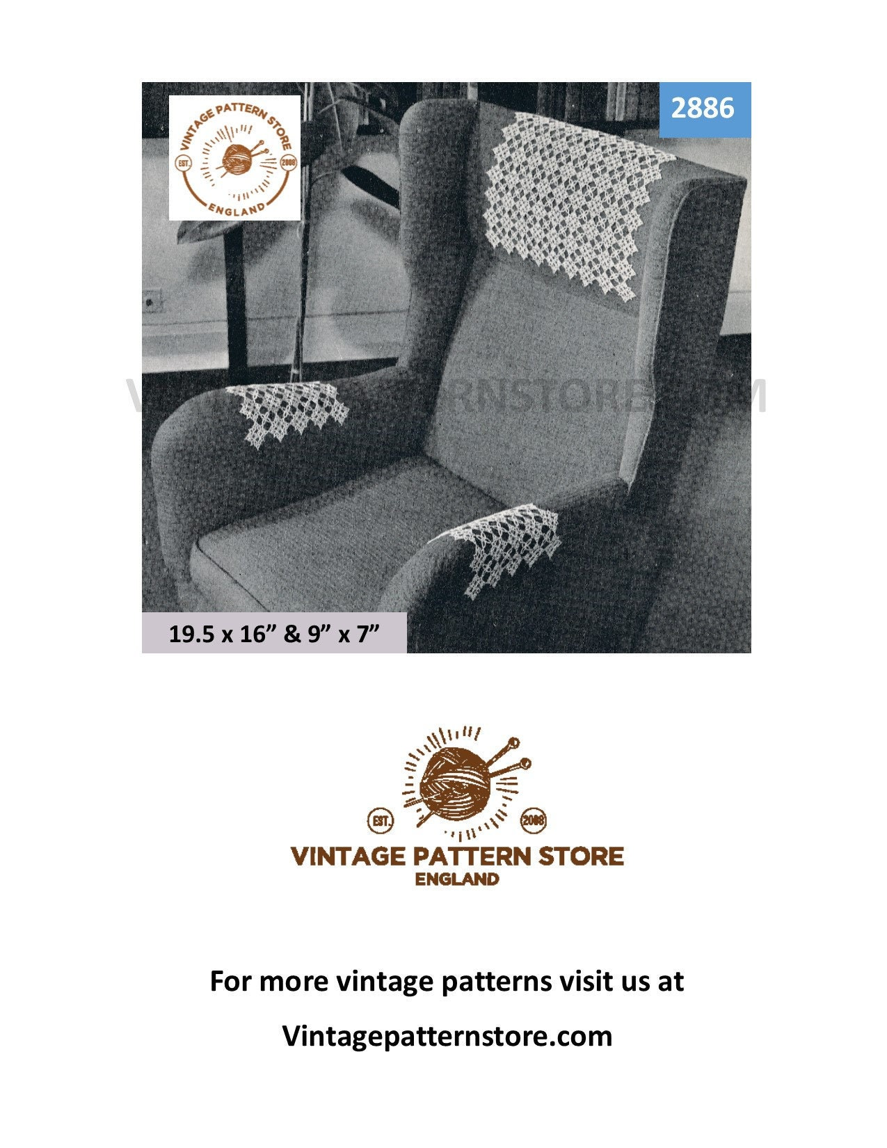 30s Vintage Tatted Lace Settee Sofa Chair Back And Arm Rest