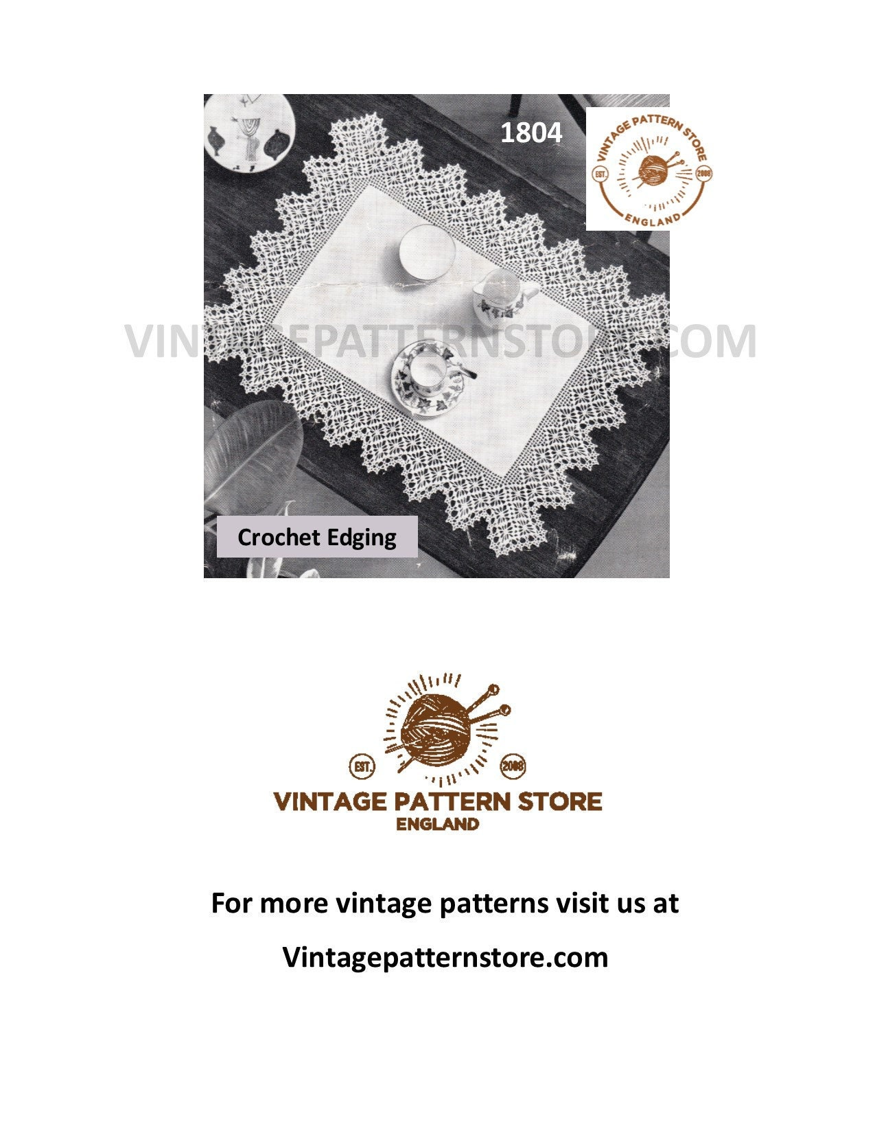 Incredible 50S Vintage Lace Edging For Linen Table Cloth Pdf Crochet Download Free Architecture Designs Scobabritishbridgeorg