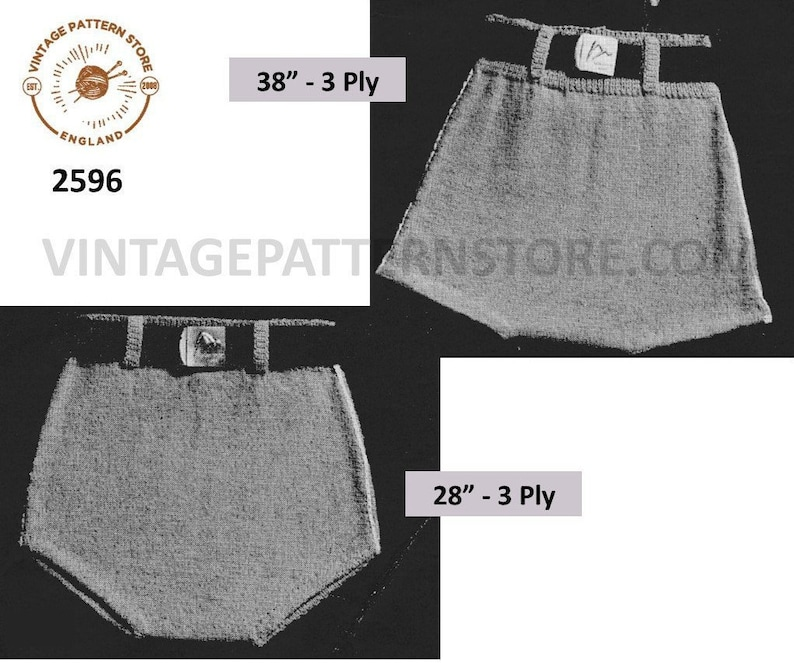 Easy 1940s Men's Fashion Guide Mens Mans 40s vintage easy to knit 3 ply swimming costume bathing suit swim trunks pdf knitting pattern 28