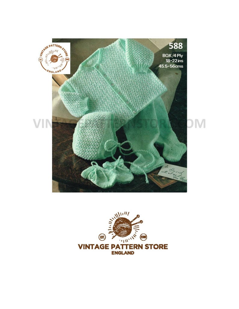 1a85cd933c64 Babies matinee coat knitting pattern Babies 4 ply pram set