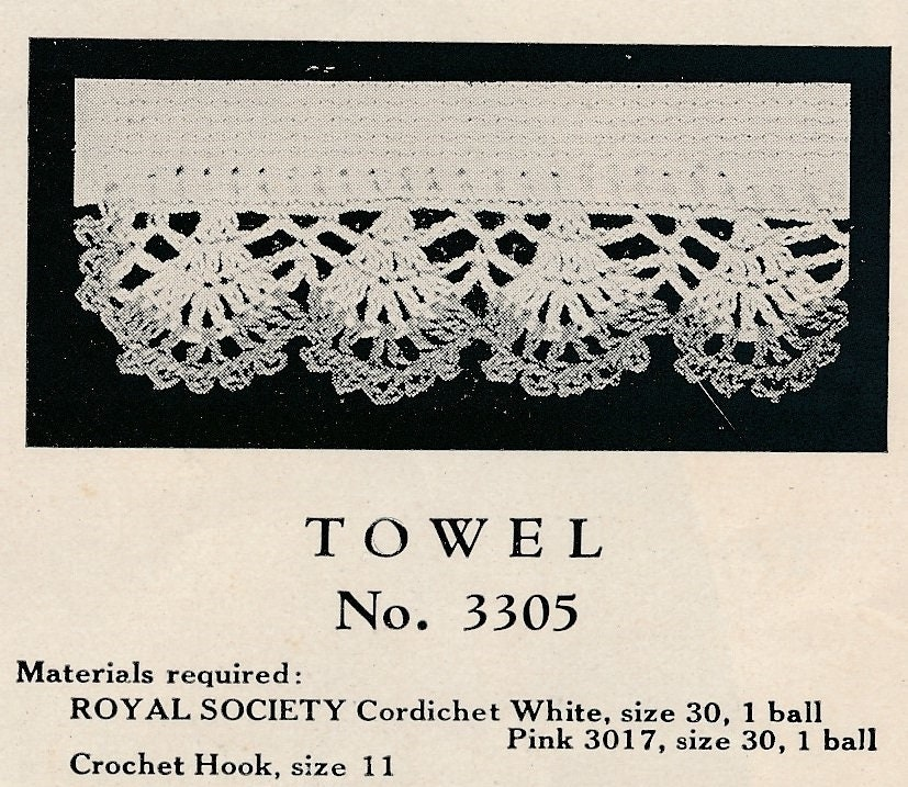 Edwardian Crochet Patterns Edwardian Crochet Towel Edging
