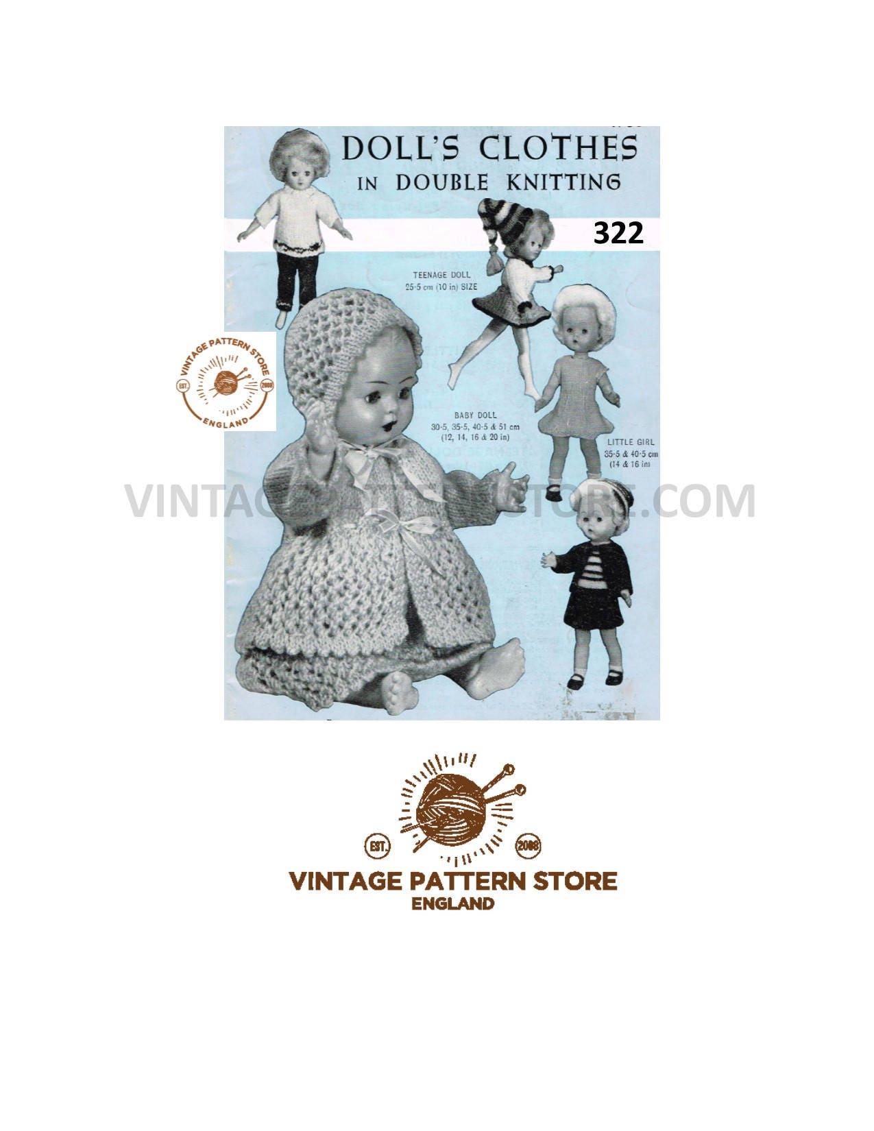 6392b6f26c7a1 PDF Dolls clothes knitting pattern 10 12 14