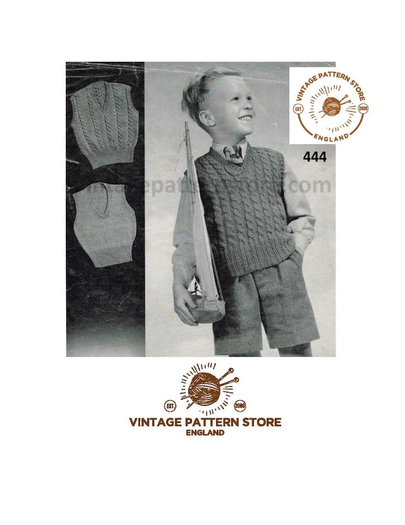 3a7b48d6d Boys 40s tank top knitting pattern Boys sleeveless sweater