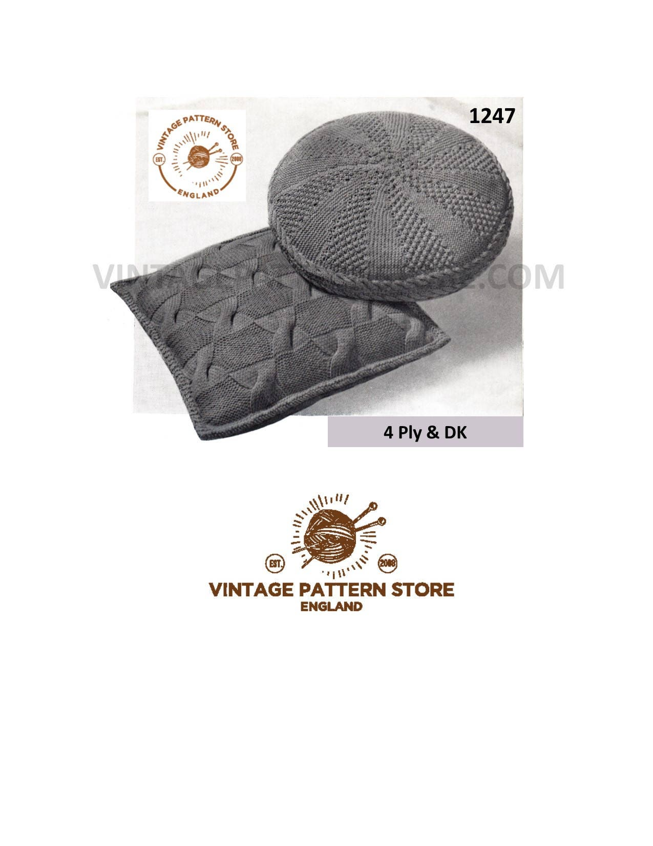 Cushion Cover Knitting Patterns 70s Cushion Patterns Square Round