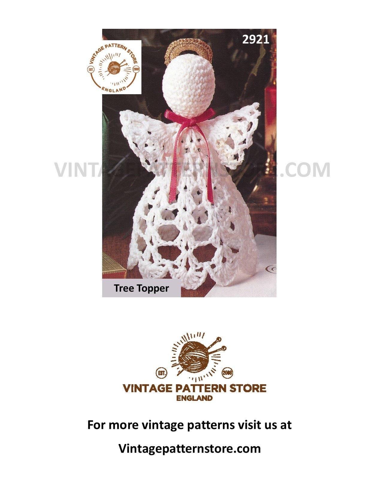Christmas Ornament Crochet Pattern Crochet Angel Tree Topper