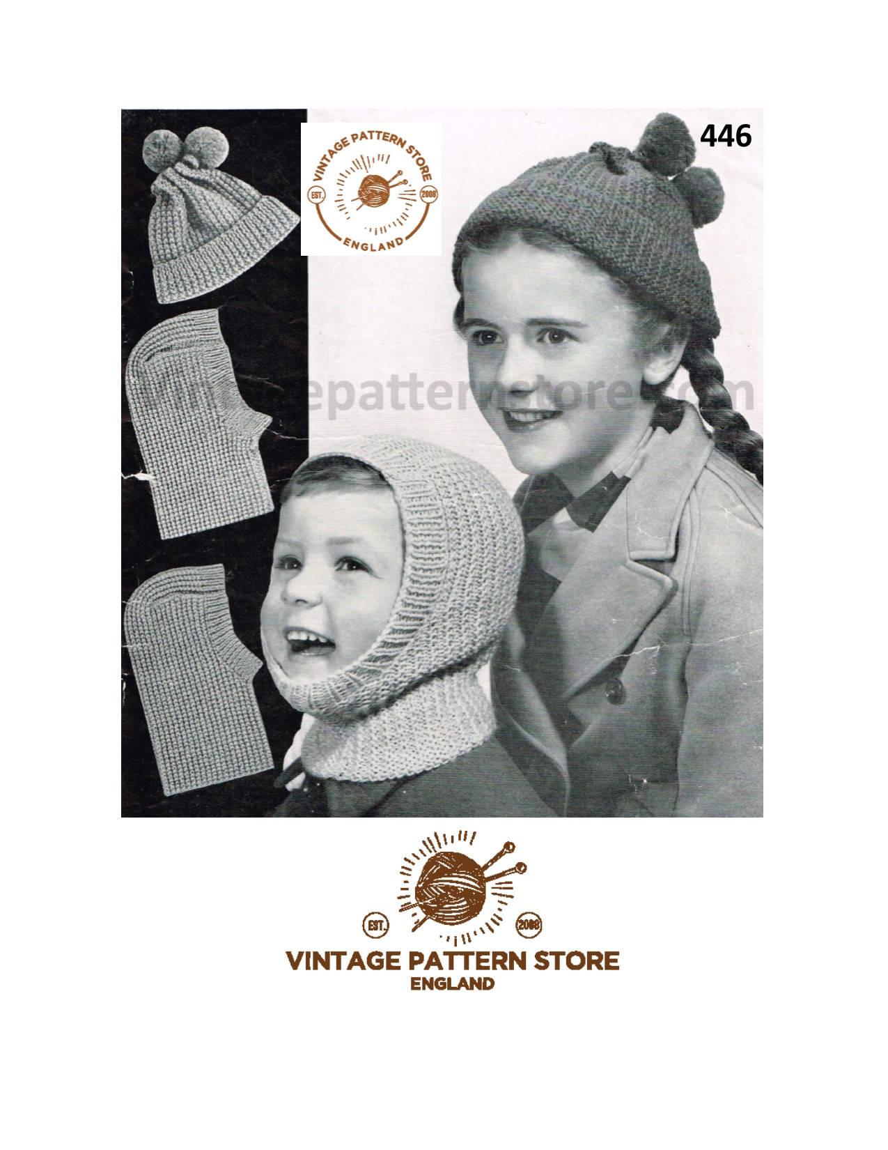 Childrens balaclava knitting pattern d7460f21217