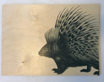 Wood Placemats with Digital LAMOU Print: Prickly